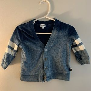 Spendid blue ombre cardigan for baby 6-12 months